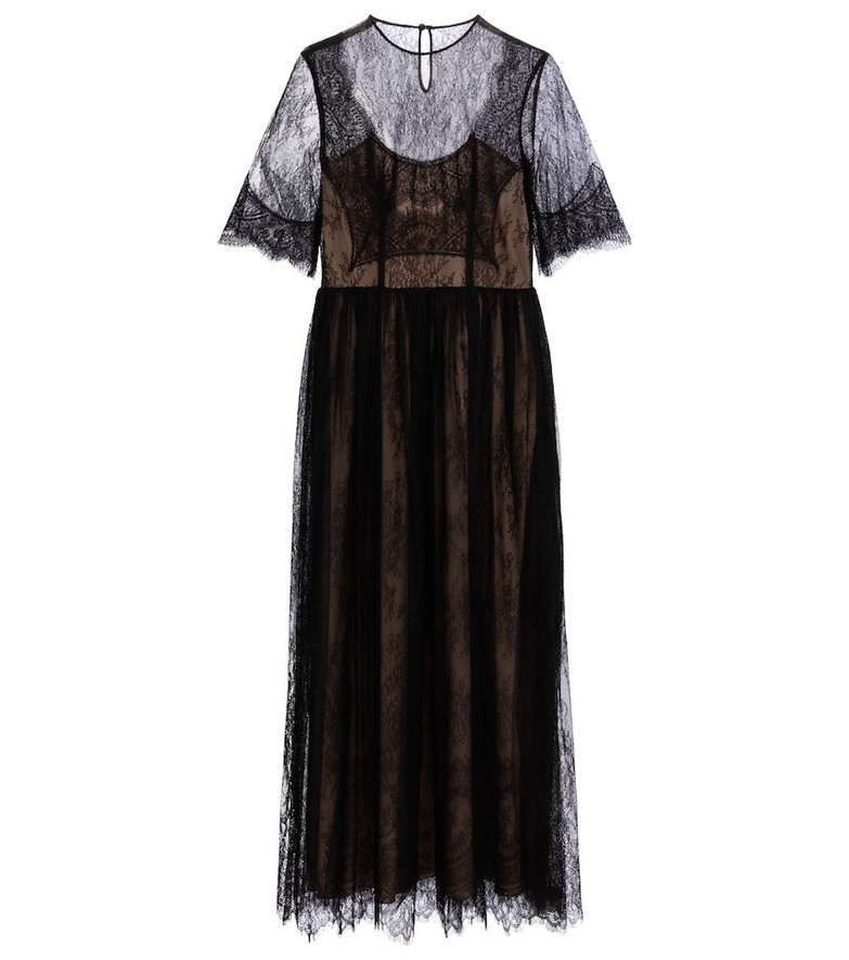 Costarellos Kellica lace gown in black