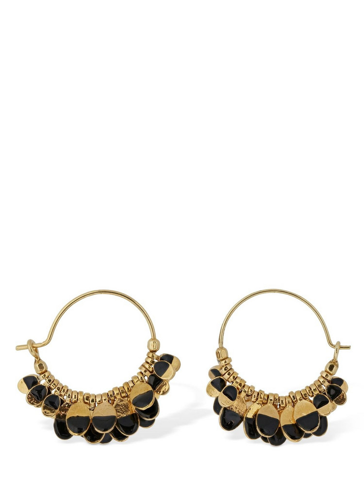 ISABEL MARANT Bicolor New Leaves Earrings in black / gold
