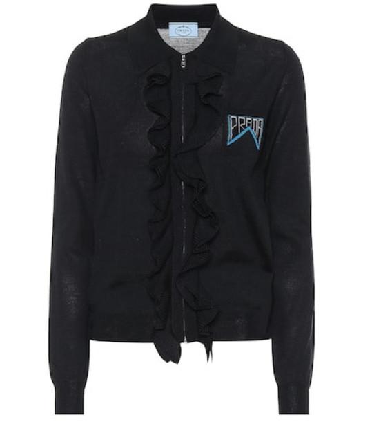 Prada Wool and silk sweater in black