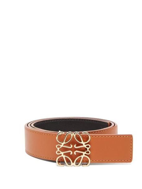 Loewe - Anagram Logo Leather Belt - Womens - Tan