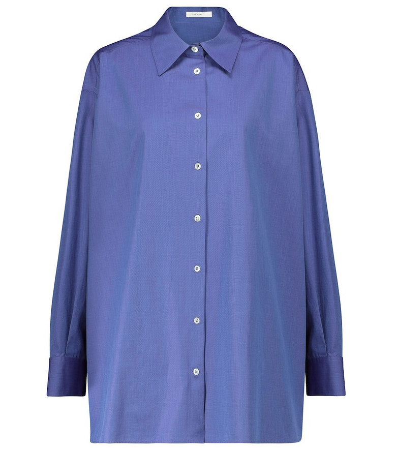 The Row Gianluca cotton shirt in blue