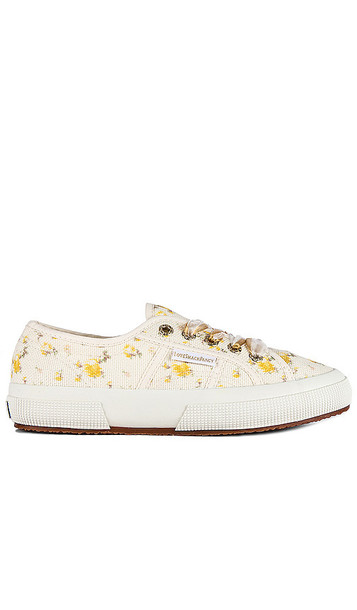 Superga x LoveShackFancy Classic 2750 Sneaker in Ivory