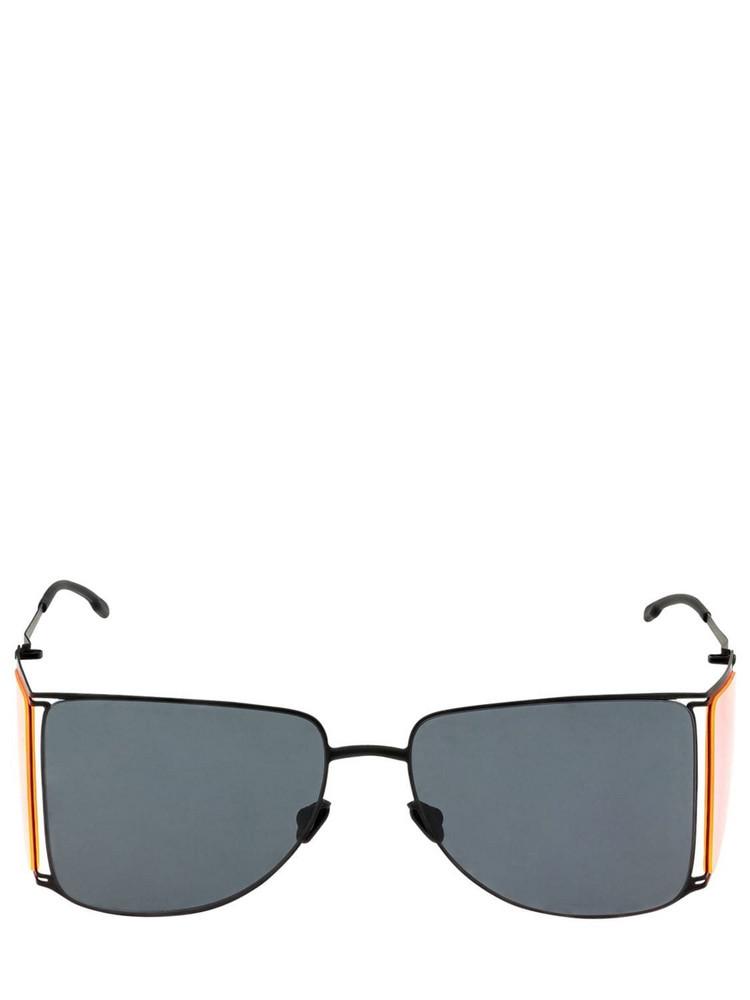 MYKITA Helmut Lang Hl002 Squared Sunglasses in black