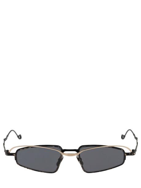 KUBORAUM BERLIN H73 Double Frame Metal Sunglasses in black / grey