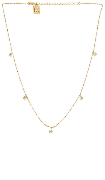 MIRANDA FRYE Shea Necklace in Metallic Gold