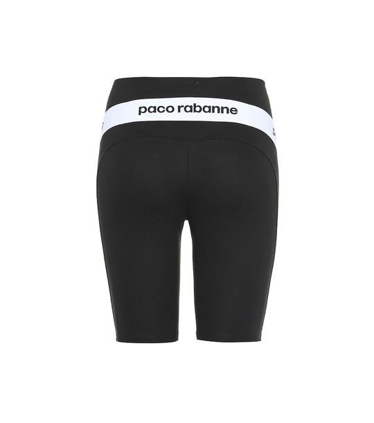 Paco Rabanne Logo biker shorts in black