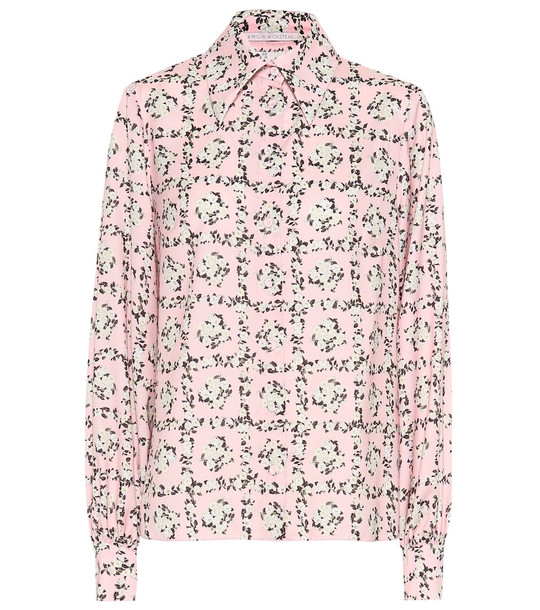 Emilia Wickstead Petula floral crêpe shirt in pink