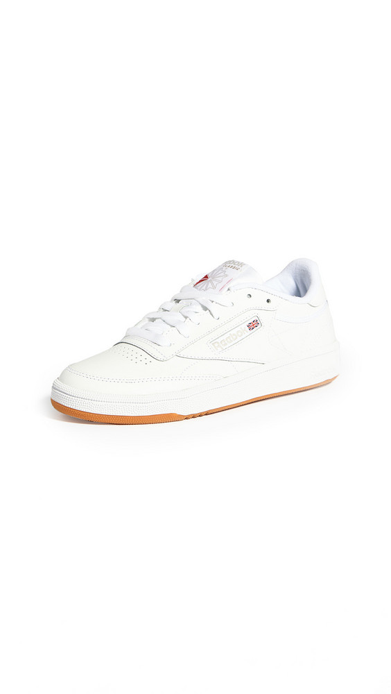 Reebok Club C 85 Classic Lace Up Sneakers in grey / white