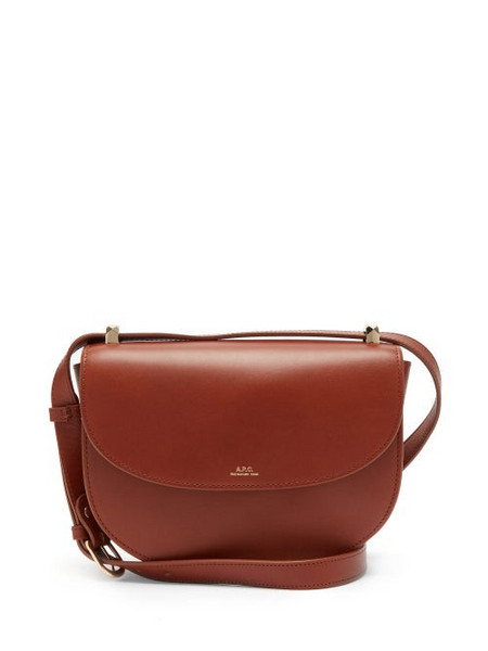 A.P.C. A.P.C. - Genève Cross-body Smooth-leather Bag - Womens - Tan