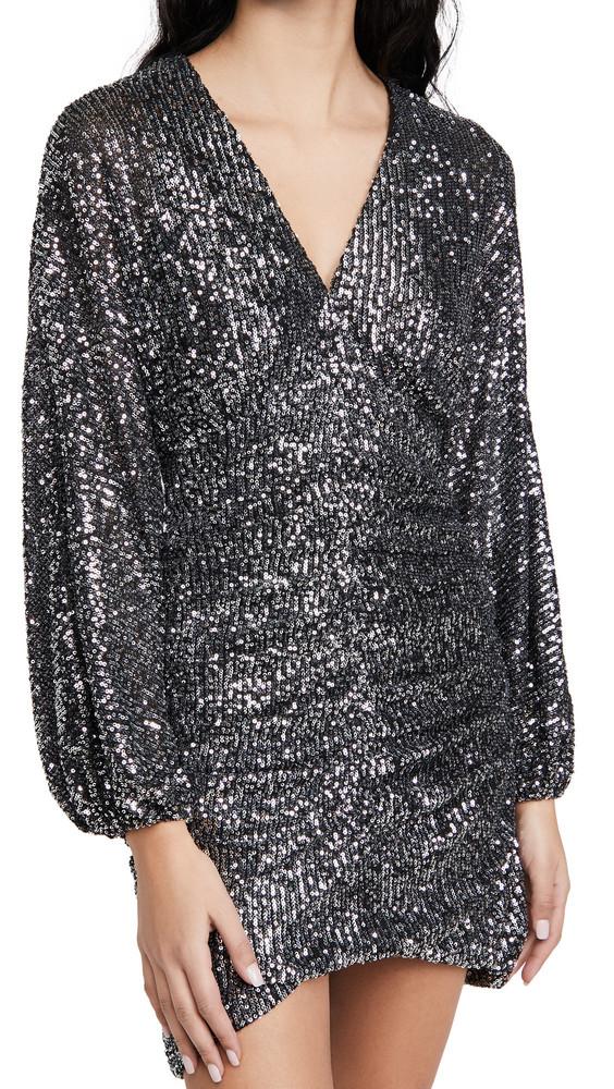 ASTR the Label Dottie Mini Dress in black / silver