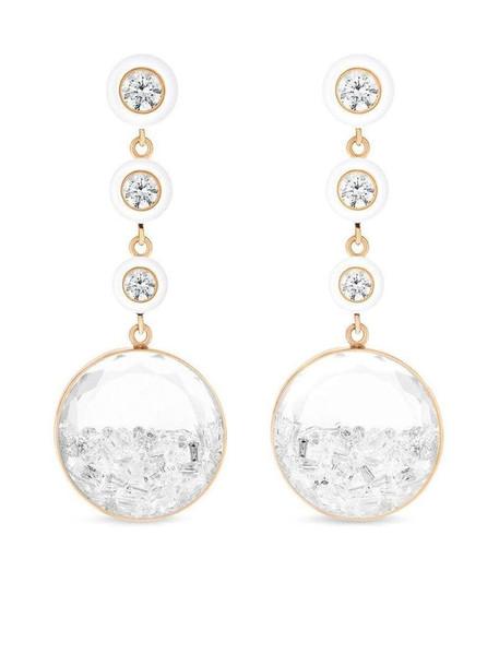 Moritz Glik 18kt rose gold diamond shaker drop earrings in pink