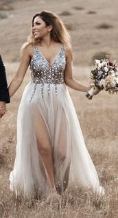 dress,white,tulle skirt,jewels