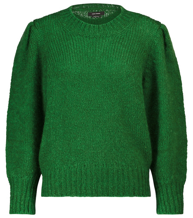 Isabel Marant Emma mohair and wool-blend sweater in green