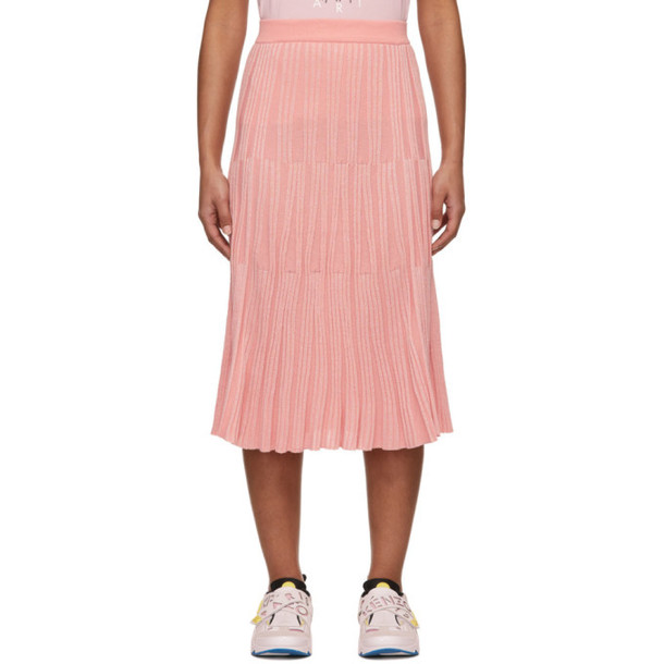 Kenzo Pink Pleated Skirt
