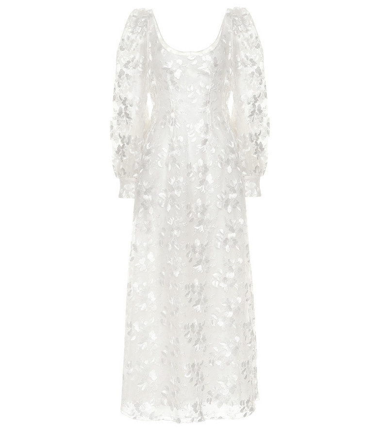 Brock Collection Quaneisha embroidered floral dress in white