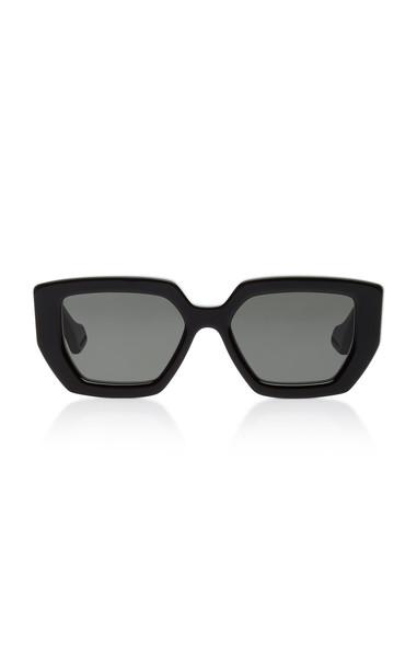 Gucci Oversized Square-Frame Acetate Sunglasses in black