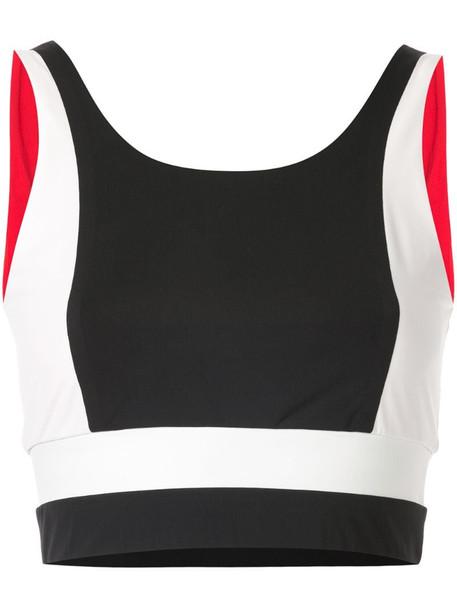 Vaara Poppy crop sports bra in white