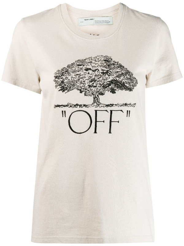 Off-White arrows printed T-shirt in neutrals