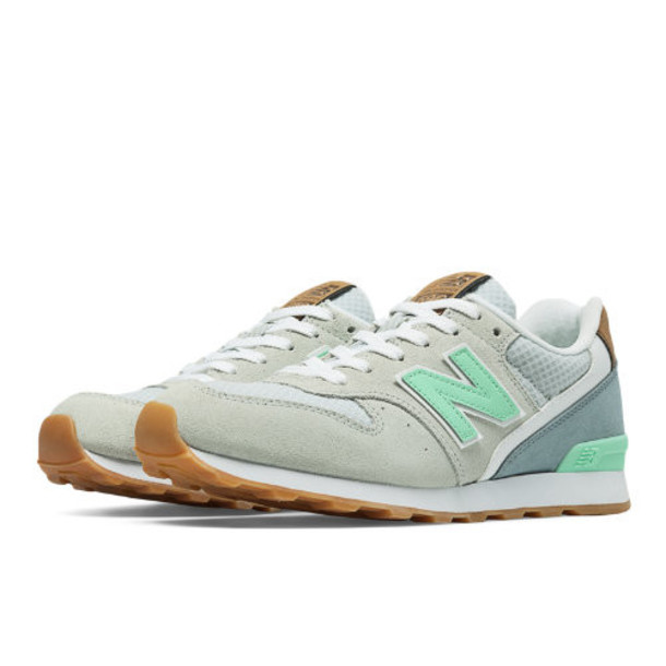 696 New Balance Women's Running Classics Shoes - Light Grey, Mint, Grey (WL696TCS)