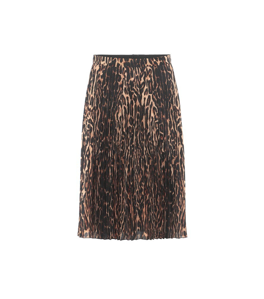 Burberry Rersby leopard-print midi skirt in brown