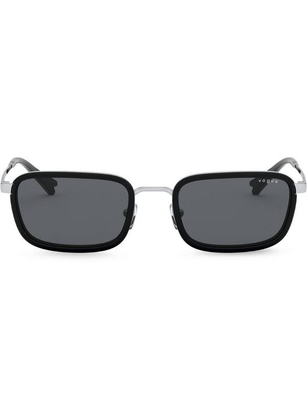 Vogue Eyewear x Millie Bobby Brown rectangular-frame sunglasses in silver
