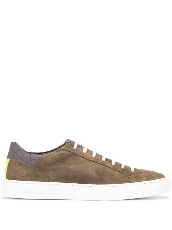 Hide&Jack contrast-panel low-top sneakers in brown