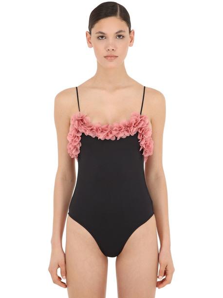 LA REVECHE Hanan Lycra One Piece Swimsuit in black
