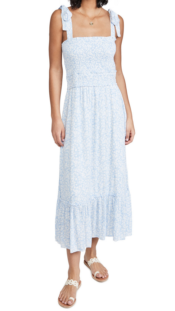 Lost + Wander Lost + Wander Endless Summer Maxi Dress in blue / white
