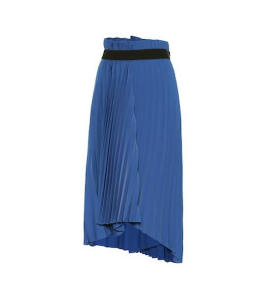 Balenciaga Pleated midi skirt in blue