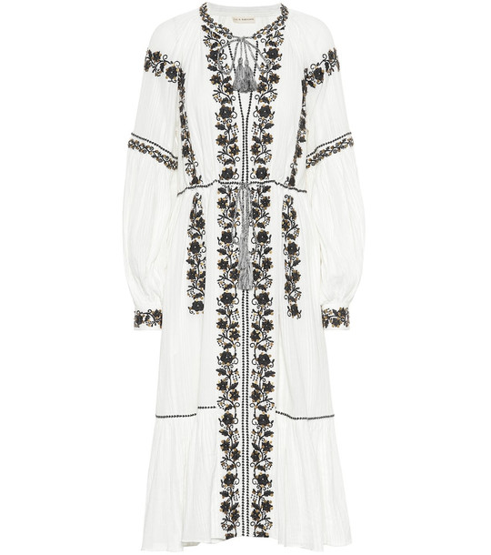 Ulla Johnson Vanita embroidered cotton dress in white