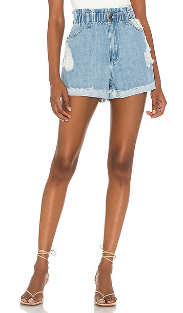 Show Me Your Mumu Emilia Shorts in Blue