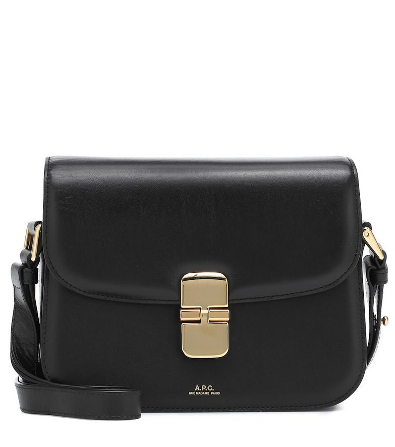 A.P.C. Grace leather shoulder bag in black