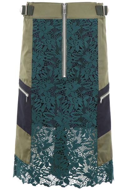Sacai Knee-length Skirt in green