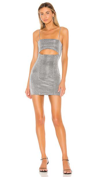 superdown Yuna Cut Out Dress in Metallic Silver