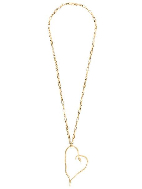 Goossens x Harumi Klossowska de Rola heart snake necklace in gold