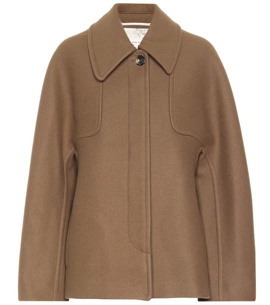 Dries Van Noten Wool-blend coat in brown