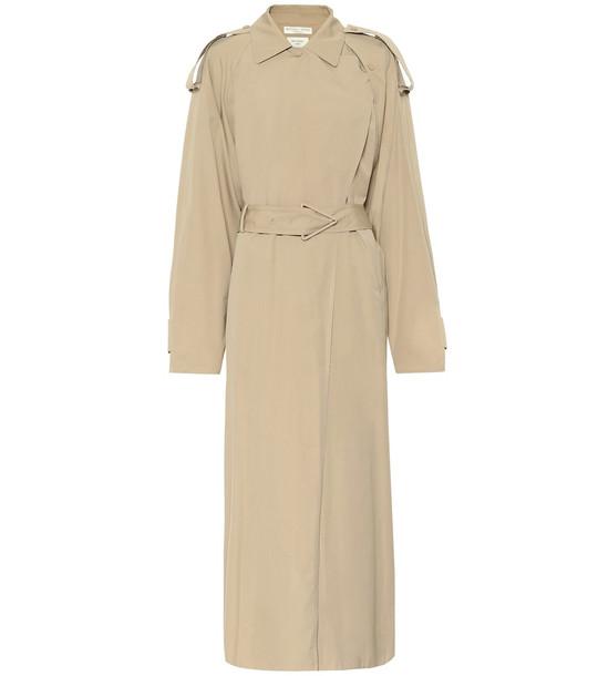 Bottega Veneta Cotton-blend trench coat in beige