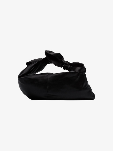 Simone Rocha Black Baby Wrap satin shoulder bag