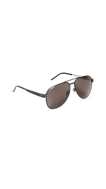 Saint Laurent Pilot Aviator Sunglasses in black
