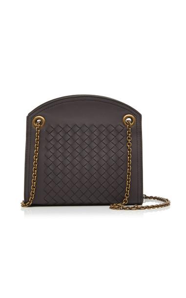 Bottega Veneta Woven Leather Shoulder Bag in brown