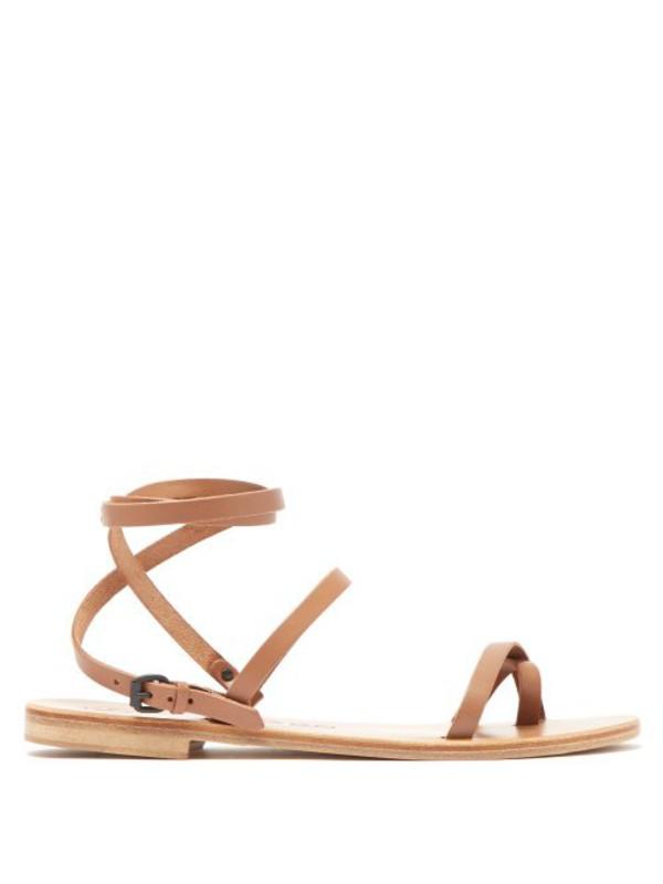 Álvaro Álvaro - Anna Wrap Around Leather Sandals - Womens - Tan