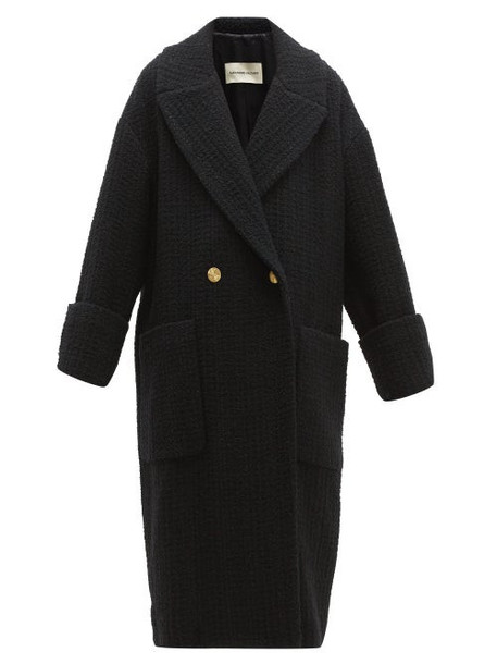 Alexandre Vauthier - Double Breasted Wool Blend Tweed Coat - Womens - Black