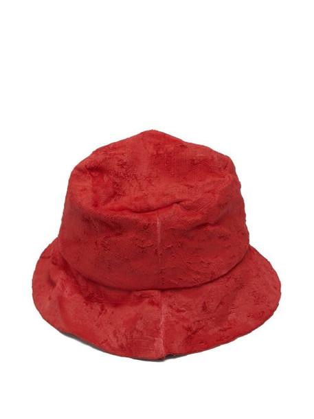 Reinhard Plank Hats - Coated Velvet Hat - Womens - Red