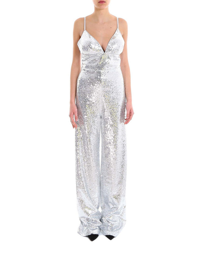 In The Mood For Love Devon Jumpsuit in silver
