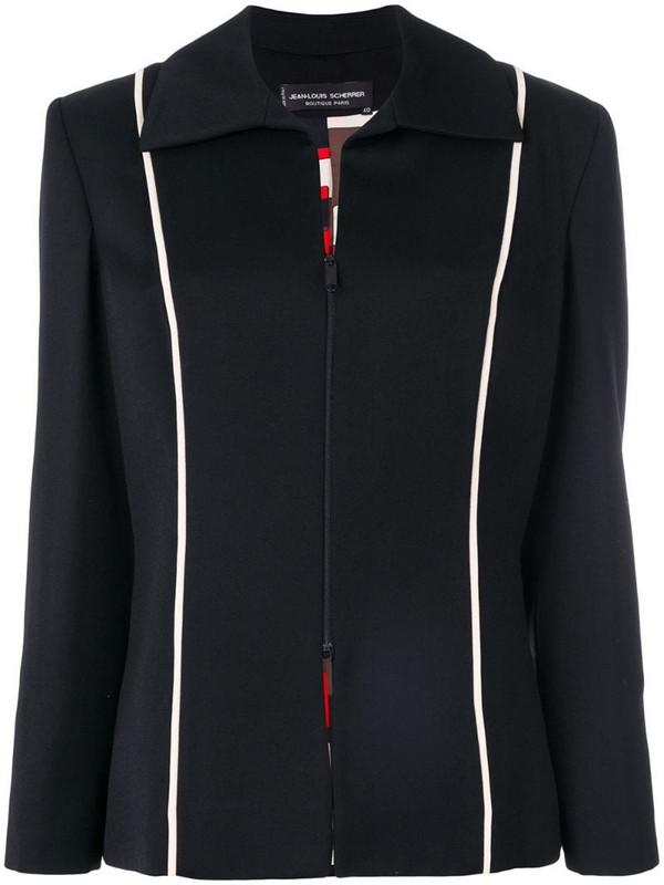 Jean Louis Scherrer Pre-Owned collared jacket in black