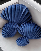 home accessory,blue,pillow,shell