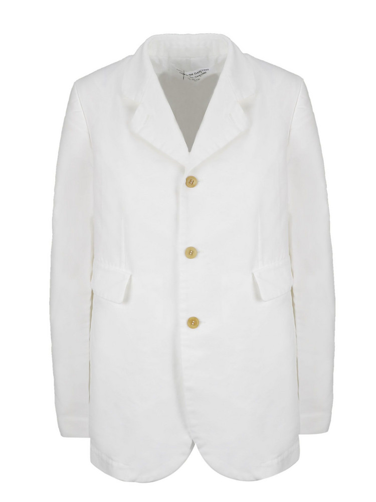 Comme Des Garçons Single Breasted Jacket in white