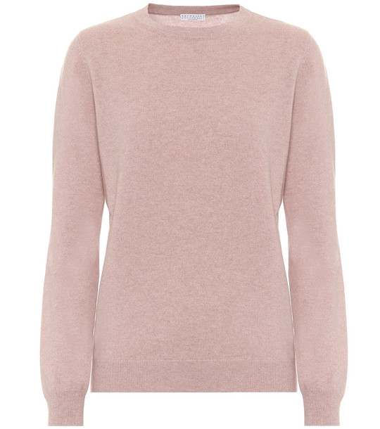Brunello Cucinelli Cashmere sweater in pink