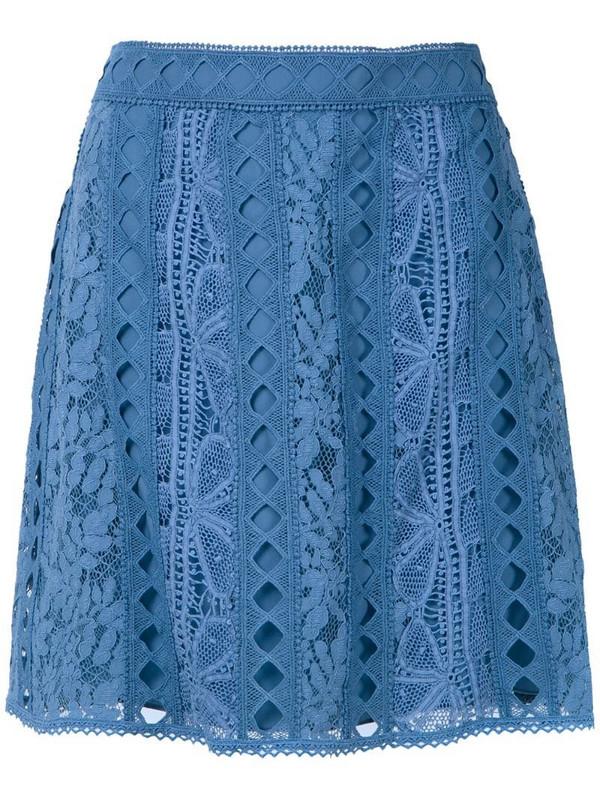 Martha Medeiros Alissa skirt in blue