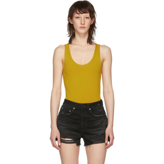rag and bone rag & bone Yellow 'The Tank' Bodysuit